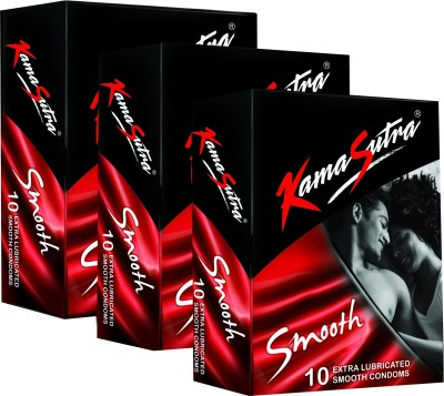 KamaSutra Smooth Monthly Combo Condom(Set of 3, 10S)  available at flipkart for Rs.150