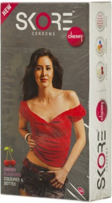 Skore Cherry Condoms (10 Condoms)
