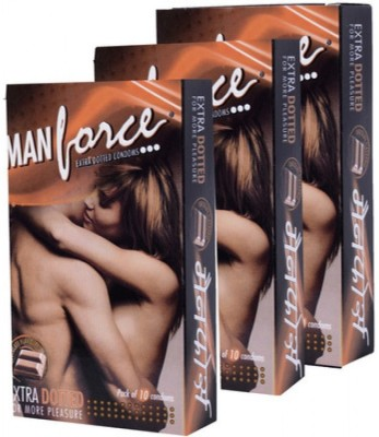 Manforce Extra Dotted Chocolate Condoms (30 Condoms)