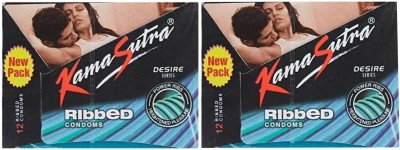 KamaSutra Ribbed Condom(Set of 2, 24S)  available at flipkart for Rs.177