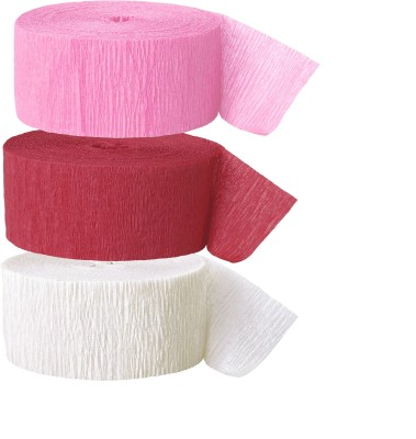 GrandShop Streamer(Red, Pink, White, Pack of 6)