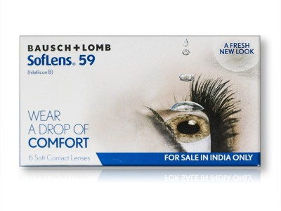 Bausch & Lomb New Soflens 59 Monthly(-4.25, Contact Lenses, Pack of 6)