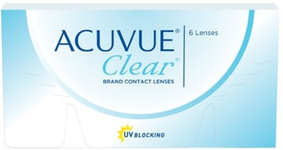Acuvue Clear Fresh Stock New MRP -2.00 Pwr By Visions India Monthly Contact Lens(-2.00, Clear, Pack of 6)