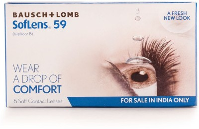 Bausch & Lomb Sl 59 Soft Monthly Contact Lens(-2, Transperant, Pack of 6)