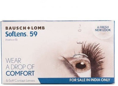 Bausch & Lomb B&L_SoftLens_59Clear-5.25 Yearly(-5.25, Contact Lenses, Pack of 6)