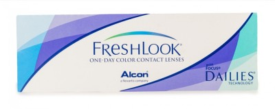 Freshlook FLODGRN Daily Contact Lens(0, GREEN, Pack of 10)