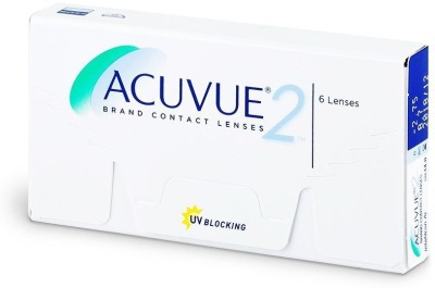 Johnson & Johnson Acuvue 2 Bi-weekly Contact Lens(-2, Transperant, Pack of 6)