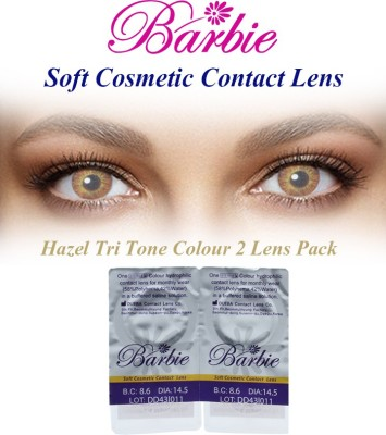 Barbie Tri Tone 0.00 Power By Visions India Monthly(Hazel-0.00, Colored Contact Lenses, Pack of 2)