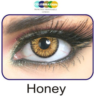Celebration Honey Monthly Contact Lens(Zero Power, Honey, Pack of 2)