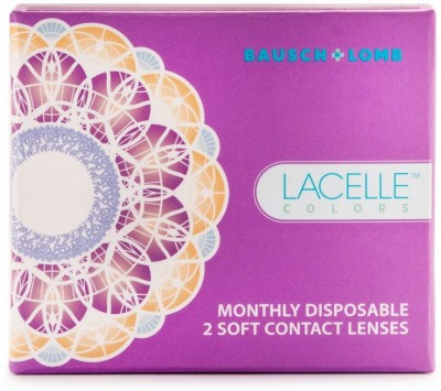 Bausch & Lomb Lacelle Monthly Contact Lens(0, Jubilee Violet, Pack of 2)