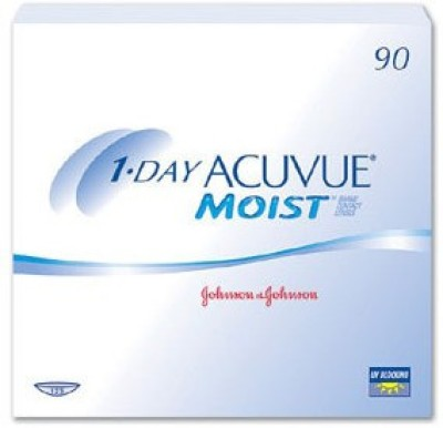 Acuvue 1-Day Moist Daily Contact Lens(-0.50, Clear, Pack of 90)