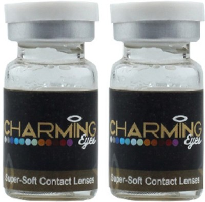 Charming Eyes Two Tone GreyColor By Lens4eye Yearly(-1.00, Colored Contact Lenses, Pack of 2) at flipkart