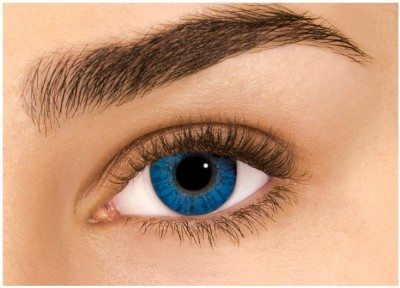 Sparkle Aqua Blue Monthly(Zero Power, Colored Contact Lenses, Pack of 2) at flipkart