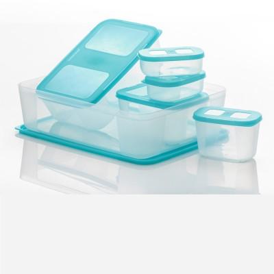 Varmora Freezer Safe Full Set  - 8.13 L Polypropylene Food Storage(Pack of 6, Blue) at flipkart