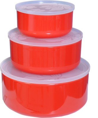CSM  - 1000 ml Plastic Grocery Container(Pack of 3, Red) at flipkart