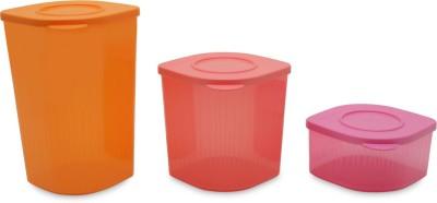 Tupperware  - 1.5 L Plastic Food Storage(Pack of 3, Multicolor) at flipkart