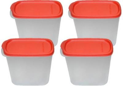 Tupperware  - 1.1 L Plastic Multi-purpose Storage Container(Pack of 4, White, Red) at flipkart