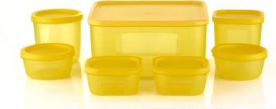 Sukhson India  - 3500 ml, 500 ml, 400 ml, 250 ml, 200 ml Polypropylene Multi-purpose Storage Container(Pack of 7, Yellow) at flipkart