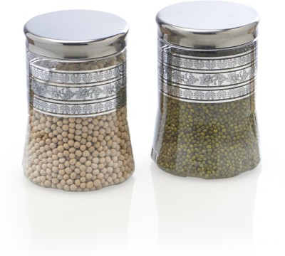 Steelo 2 Pieces PET - Belly  - 1200 ml Plastic Food Storage(Pack of 2, Clear) at flipkart