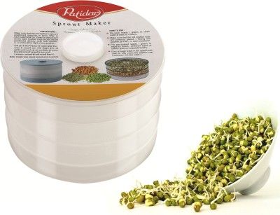 Patidar Polymers Healthy Sprout Maker (Big)  - 2100 ml Plastic Grocery Container(Clear)  available at flipkart for Rs.319