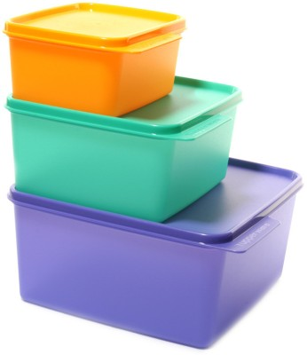 Tupperware Keep Tab    4200 ml Plastic Grocery Container Pack of 3, Multicolor