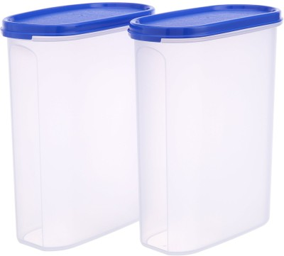 TUPPERWARE MM Oval #4   2300 ml Plastic Grocery Container Pack of 2, Multicolor TUPPERWARE Kitchen Containers