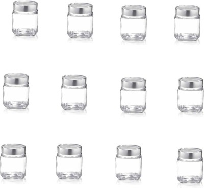 TREO   580 ml Glass Tea Coffee   Sugar Container Pack of 12, Clear TREO Kitchen Containers