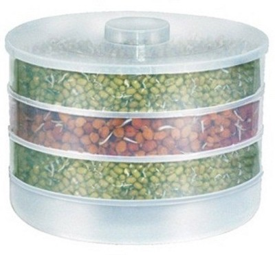 Moforce Sprout Maker Big  - 1800 ml Plastic Grocery Container(White)  available at flipkart for Rs.230