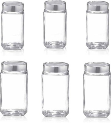 treo  - 2250 ml, 1000 ml Glass Multi-purpose Storage Container(Pack of 6, Clear) at flipkart