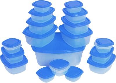 Flipkart SmartBuy 18 Piece Refrigerator Storage Containers(Pack of 18, Blue)