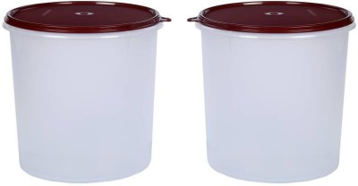 Signoraware Modular Round  - 5.5 L Plastic Multi-purpose Storage Container(Pack of 2, Maroon)  available at flipkart for Rs.1070