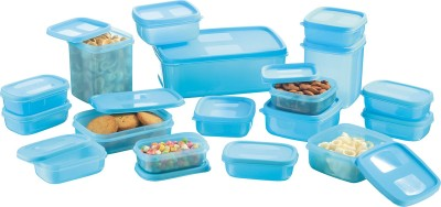 MasterCook  - 200 ml, 330 ml, 1630 ml, 150 ml, 500 ml, 700 ml Polypropylene Multi-purpose Storage Container(Pack of 17, Blue) at flipkart