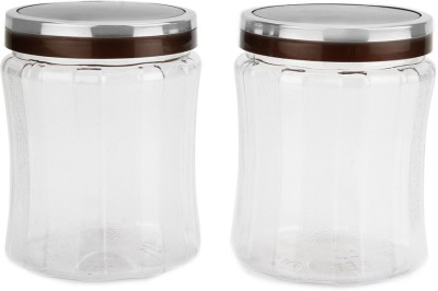 Steelo 2 Pieces PET   Skona   1100 ml Plastic Grocery Container Pack of 2, Clear Steelo Kitchen Containers