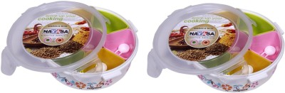 Nayasa SPICE CONTAINER  - 1500 ml Plastic Spice Container(Pack of 2, Multicolor) at flipkart