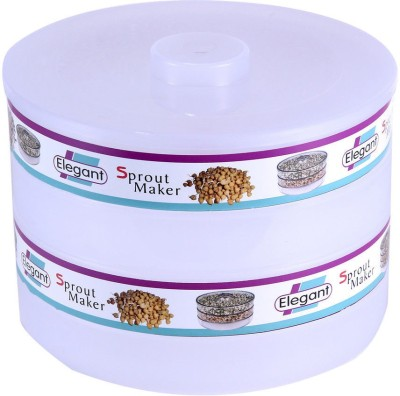 Your Choice Sprout Maker 3 Tier for Sprouts from Moong, Beans, Pulses  - 1.8 ml Plastic Grocery Container, Utility Box(White)  available at flipkart for Rs.249