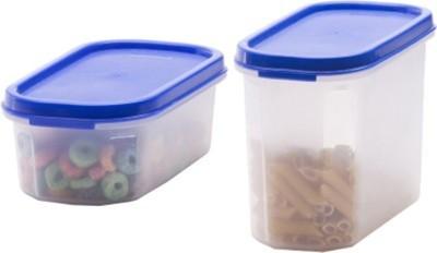 Hari Om Enterprises  - 550 ml, 1200 ml Plastic Grocery Container(Pack of 2, Multicolor) at flipkart