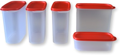 TUPPERWARE Smart Saver Set   1700 ml, 500 ml Plastic Grocery Container Pack of 5, Multicolor TUPPERWARE Kitchen Containers