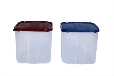 Signoraware Signoraware Modular Square 4.5 Ltr. ( Set/2 )  - 4500 ml Plastic Multi-purpose Storage Container(Pack of 2, Multicolor)  available at flipkart for Rs.890