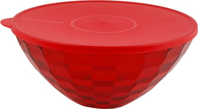 Tupperware Prism Bowl   3.5 L Plastic Grocery Container Red