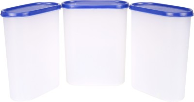 Tallboy Mahaware Space Saver Container 2400ml Set Of 3 - 2400 ml Plastic Food Container (Pack of 3, White)