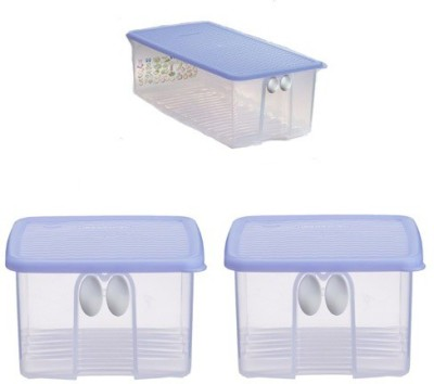 Tupperware FridgeSmart Set- Medium 1 pc and Small 2 pcs  - 3.6 L Polypropylene Grocery Container(Pack of 3, White, Violet)  available at flipkart for Rs.1125
