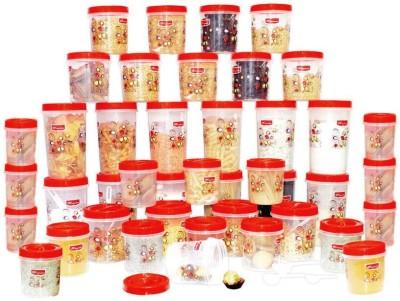Princeware 9425  - 34710 ml Polypropylene Food Storage(Pack of 42, Red) at flipkart