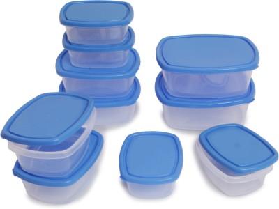 Flipkart SmartBuy 10 Piece Refrigerator Storage Containers(Pack of 10, Blue)