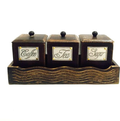 Shivay Arts 4 Piece Condiment Set(Wooden) at flipkart