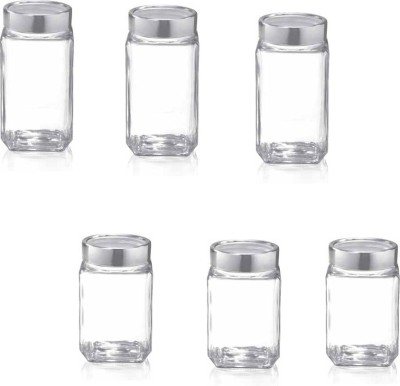 Treo  - 800 ml, 1000 ml Glass Grocery Container(Pack of 6, Clear) at flipkart