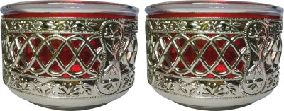 Golddust Silver Polo Dry Fruit Serving   400 ml Plastic Grocery Container Pack of 2, Silver, Red Golddust Kitchen Containers