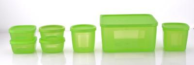 Sukhson India  - 3500 ml, 500 ml, 400 ml, 250 ml, 200 ml Polypropylene Multi-purpose Storage Container(Pack of 7, Green) at flipkart