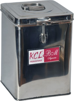 KCL Kunj   3000 ml Steel Grocery Container Silver