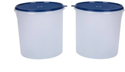 Signoraware Round Container  - 5500 ml Plastic Grocery Container(Pack of 2, White, Blue)