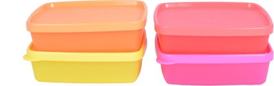 Tupperware Cool N Fresh - 1000 ml Plastic Food Container (Pack of 4, Multicolor)